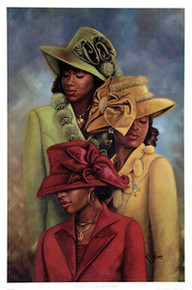 Crowns of Glory - Grace, Mercy and Peace (36 x 24) art print by Henry Lee Battle
