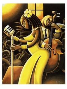 The Songstress  Art Print - Lester Kern