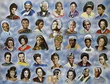 35 Great Ladies Art Print - Hulis Mavruk