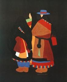 Tibetan Woman Limited Edition Art - Synthia Saint James