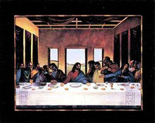 Black Last Supper Art Print