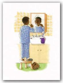 Sunshine Smiles - Boy Art Print - Sylvia Walker