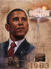Barack Obama - In Our Lifetime Art Print - Kevin A. Williams WAK