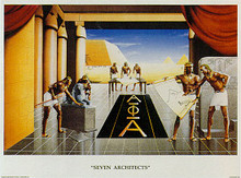 Seven Architects (Alphas) Art Print - Edward Clay Wright