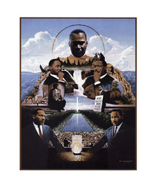 Martin Luther King Art Print - Edward Clay Wright