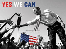 Barack Obama - Yes We Can (crowd) (12 x 16in) Art Print