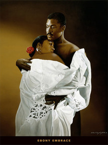 Ebony Embrace Art Print - Edward Clay Wright