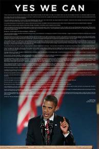 Acceptance Speech, Grant Park, Chicago - Barack Obama Art Poster