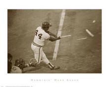 Hammerin' Hank Aaron Art Poster