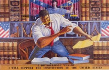 The Advocate Art Print by Ernie Barnes