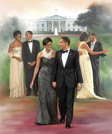 The President and First Lady Art Print - Wishum Gregory