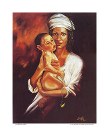 Mother and Child Art Print - Michael Escoffery