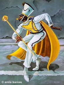 The Drum Major Art Print - Ernie Barnes
