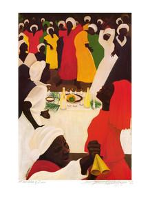 At the Table of Zion Art Print - Bernard Hoyes