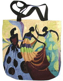 Dancers In Black Skin Tote Bag