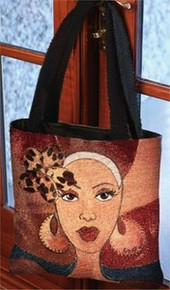 Brown And Gold Tapestry Tote Bag