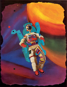 Bone in Space Art Print - Leroy Campbell