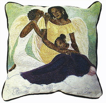 Peace, Mercy and Joy Tapestry Pillows
