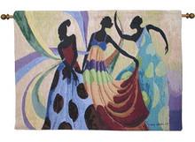 Dancer's In Black Skin Tapestry Wall Hanging