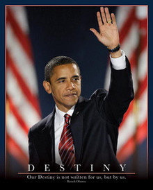 Barack Obama: Destiny (20 x 16) Art Print