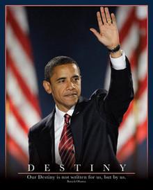Barack Obama: Destiny (20 x 16) Art Print