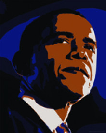 Decobama Obama Art Print