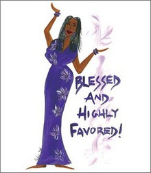Blessed And Highly Favored Magnet - Cidne Wallace