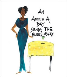 An Apple A Day Sends Blues Away Magnet - Cidne Wallace