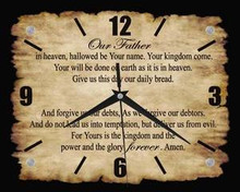 Lord's Prayer Wall Clock