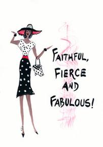 Faithful Fierce and Fabulous Magnet - Cidne Wallace