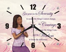 Serenity Prayer II  Wall Clock