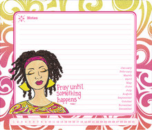 Pray Until Something Happens Memo Mouse Pad