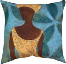 Ebony Art Blue Pillow 18 x 18in
