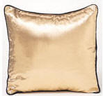 Gold Pillow with Black Edging Pillow