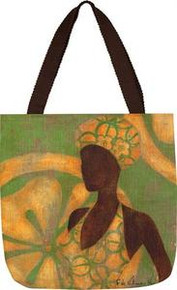 Ebony Art Green Tote Bag 18 x 18in