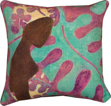 Ebony Art Purple Pillow 18 x 18in