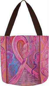 Ebony Art Breast Cancer Hope Tote Bag