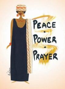 Peace, Power, Prayer Magnet - Cidne Wallace
