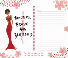 Beautiful, Brave & Blessed Memo Mouse Pad