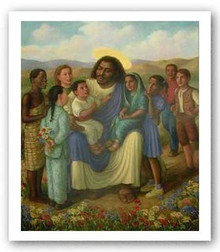 Let The Children Come To Me  Art Print - Tim Ashkar