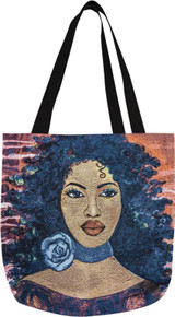 Blue Rose Tapestry Tote Bag