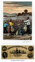 Color of Money - Slave Family Picking  Cotton: Souh Carolina Art Print - John Jones