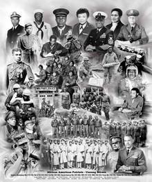 African American Patriots (Unsung Heroes): Men Art Print - Wishum Gregory