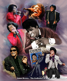 James Brown: The Godfather Of Soul Art Print - Wishum Gregory