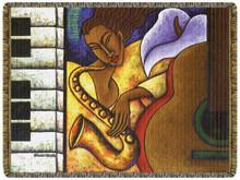 Night Groove Tapestry Throw--Lashun Beal