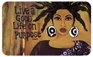 Live A Good Life On Purpose African American Floor Mat--GBABY