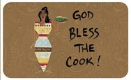 God Bless The Cook African American Floor Mat--Cidne Wallace