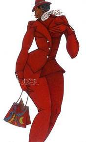 Ebony In Red Limited Edition Giclee--Charles Bibbs