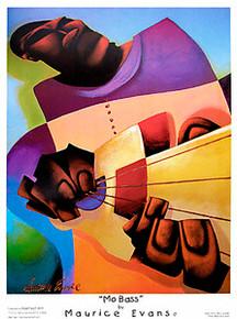 Mo' Bass Art Print - Maurice Evans