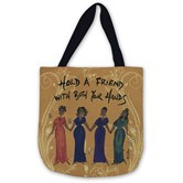 Hold A Friend With Both Your Hands Woven Tote Bag